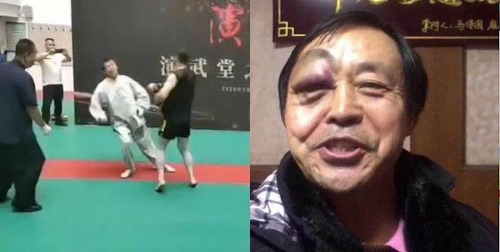 Memalukan! Guru Besar Tai Chi Terjungkal dan KO